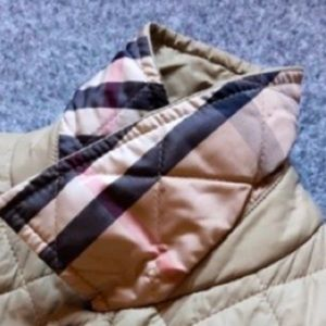 Mens Classic Burberry Tan Diamond Quilted Jacket